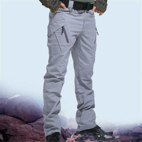 Men/'s Tactical Trousers Outdoor Hiking Waterproof Combat Sports Cycling Pants