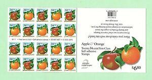 Sc-3491-3492-3492b-Booklet-of-20-34-cent-Apple-Orange-Issue-ei10