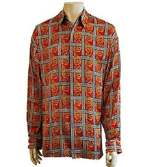 NWT RARE MEN'S VINTAGE SILK SHIRT BY CREME DE SILK STYLE 9060 CLASSIC ONE XLG.