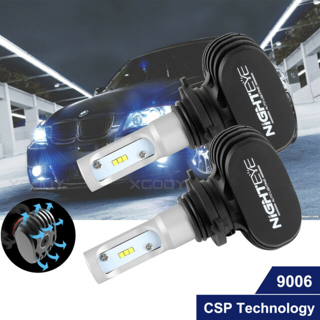 NIGHTEYE LED Headlight Kit 9006 HB4 8000LM CSP Car Replace Bulbs Globe HID White