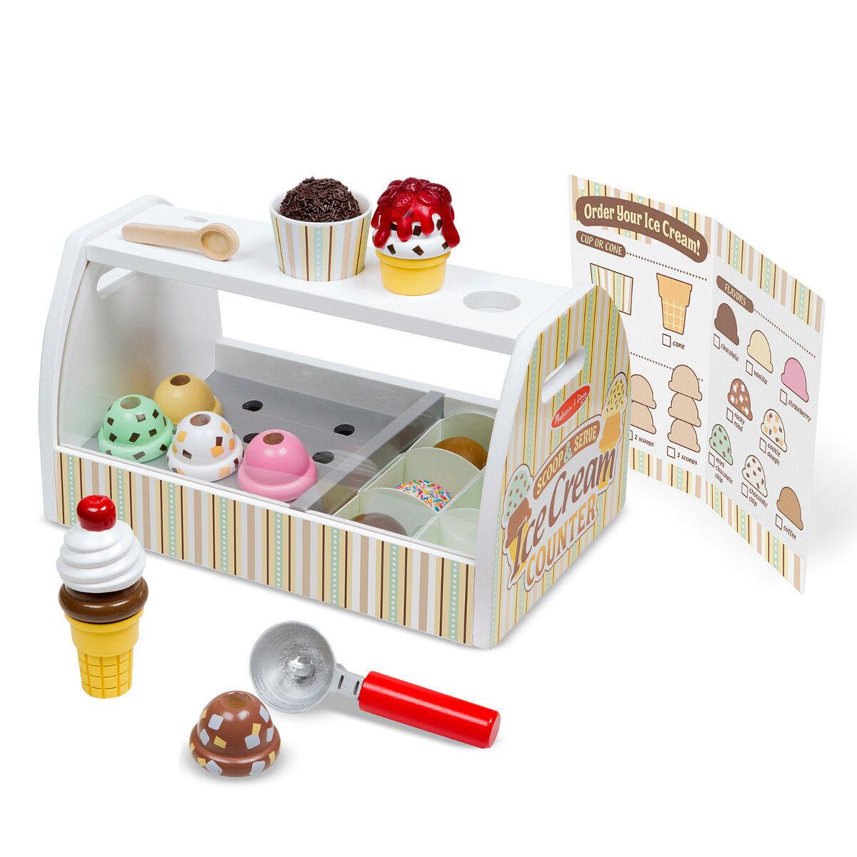 Eisdiele Spielzeug Eisstand Kinder Holz Kaufladen Eisständer Eiscreme Theke
