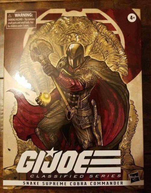 "GI Joe Classified Cobra Commander Snake Supreme Hasbro 6"" NEW Read Description"