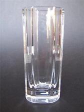 """Vintage Kosta Boda Swedish Crystal Octagonal Vase #48024 Signed Edenfalk 6.5"""""""