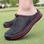 thumbnail 3 - Mens Womens Slip On Slippers Hollow Beach Sandals Clogs Garden Flat Shoes Casual