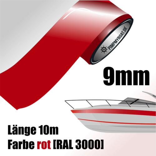 Frise 10m rouge 9mm voiture bateau jet ski Modélisme vinyle décor rayures