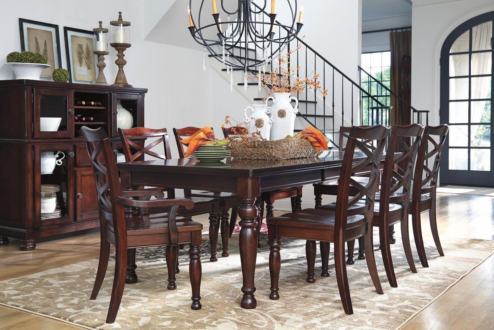 a7ef9eaea359c Ashley Furniture Porter 9 Piece Dining Room Table Set for sale ...