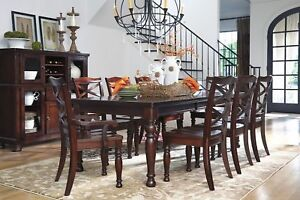 Details about Ashley Furniture Porter 9 Piece Dining Room Table Set