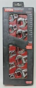 Icon-WSCS-11-11pc-3-8-034-Drive-SAE-Crowfoot-Wrench-Set