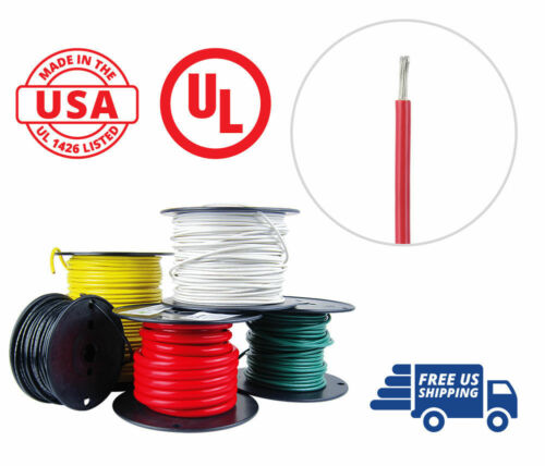 10 AWG Marine Wire Spool Tinned Copper Primary Boat Cable 100 ft Red USA Made