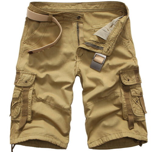 Men/'S Casual Pants Baggy Cargo Shorts Knee/_Length Casual Bottoms Summer Trousers