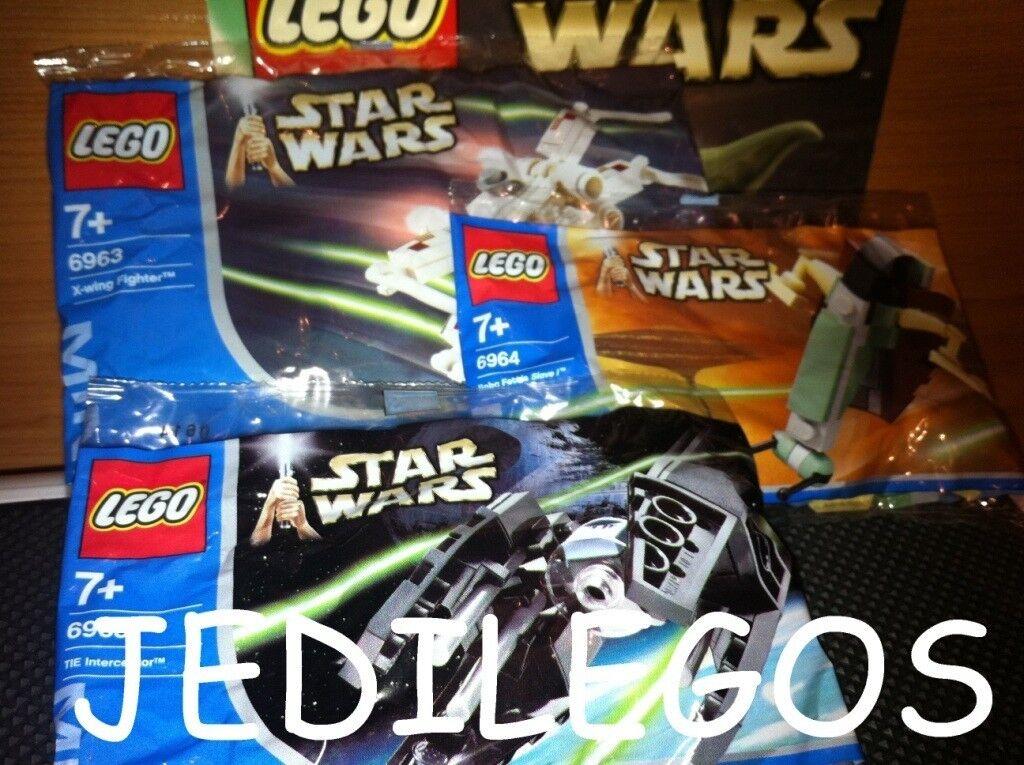 LEGO STAR WARS MINI SETS 6963 6964 6965 NEUF NEUF NEUF NEW Slave 1 X-Wing Tie Interceptor 4a52d8