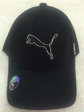 Puma New Youth Patch Cap Black Flex Fit Hat Cap-Fits Youth Sizes 4-8 Years BNWT