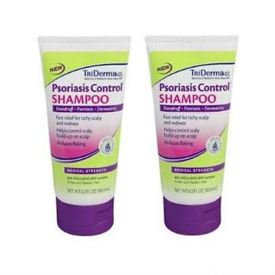2 PACK Triderma Psoriasis Control Shampoo 6.2 oz (818926010245)