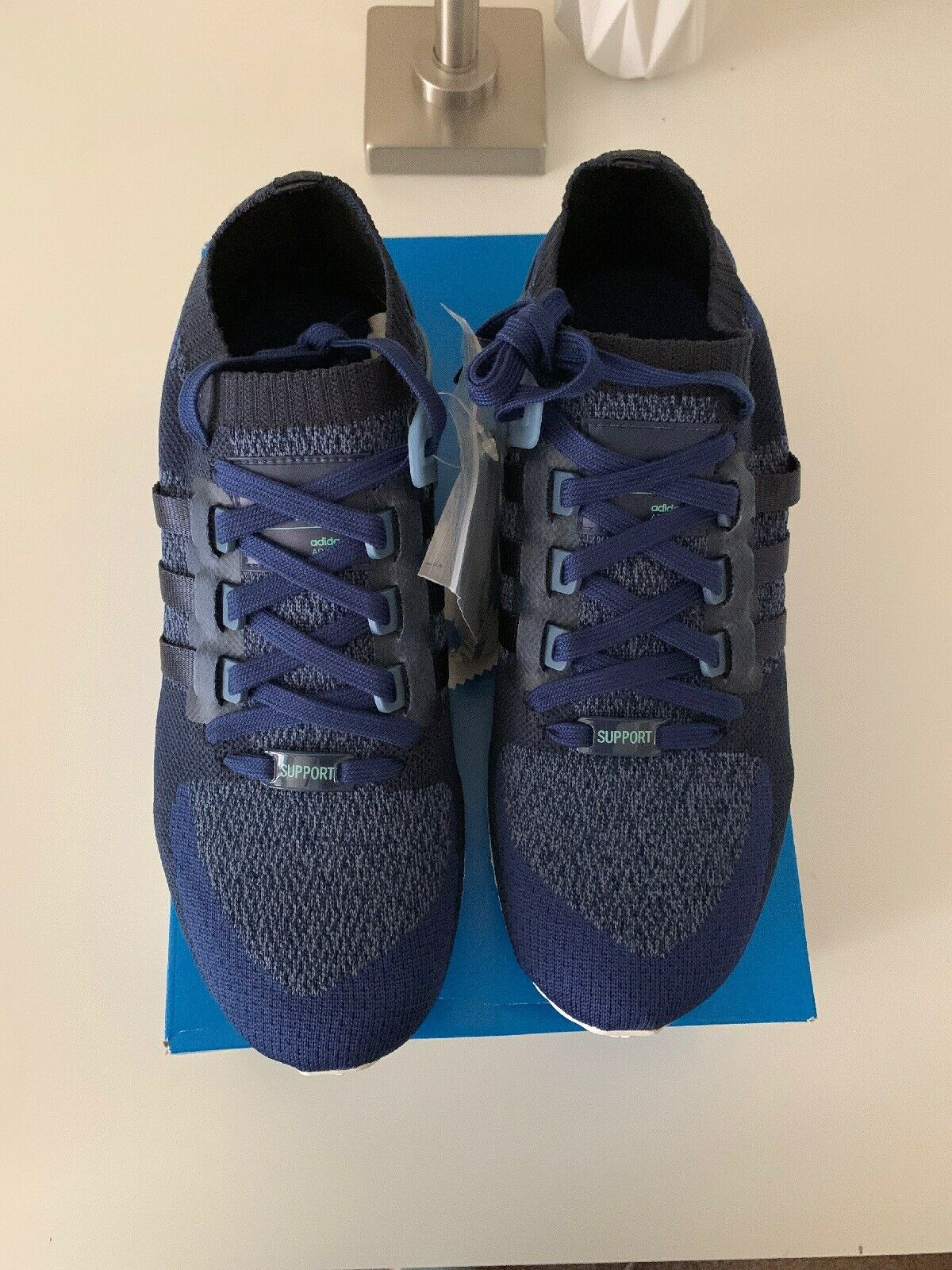pretty nice 9e429 042cb Adidas Originals EQT Support Ultra Boost Primeknit 10.5 Mens CQ1895 Navy  Indigo