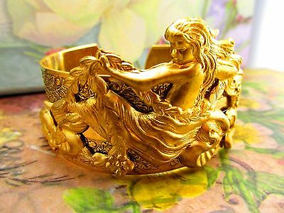 MERMAID CUFF BRACELET ART NOUVEAU WOMAN BRACELET MYELEGANTTHINGS