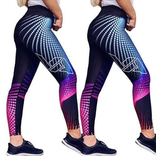 Women 3D Push Up Yoga Leggings Gym Sports Anti Cellulite Scrunch Pants Trousers