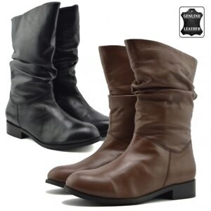 Womens Genuine Leather Boots Ladies