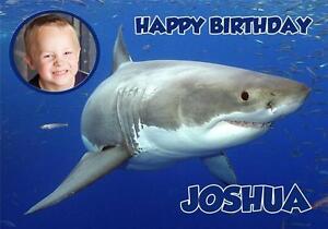 Personalised shark photo or standard birthday card ebay image is loading personalised shark photo or standard birthday card bookmarktalkfo Gallery