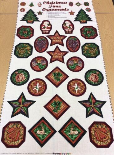 weihnachtliche Ornamente Panel 60cm Panel Woodrow Studio 100/% Baumwolle