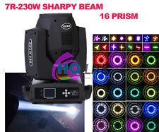 hotsale 7R beam moving head light 230w sharpy beam light dmx stage light 16prism