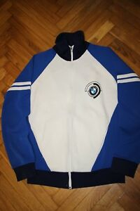 VTG-70s-RARE-BMW-ARM-PRINT-TRACK-WARM-UP-JACKET-ITALY-MOTORCYCLE-CAR-ANEROS