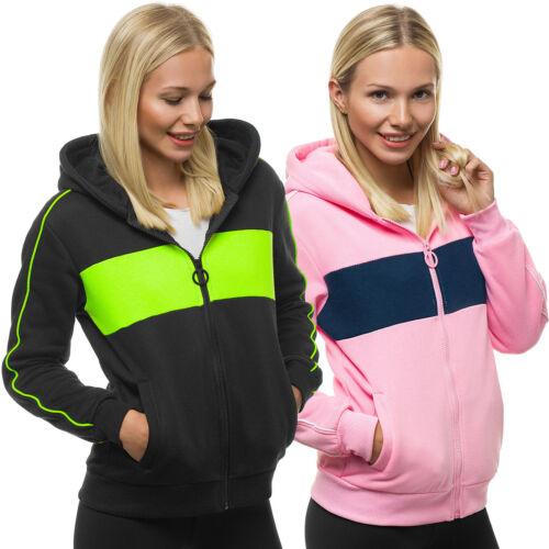 Capuche Sweatjacke Sweatshirt Pull Hoodie Sport Zip OZONEE 11 Femmes