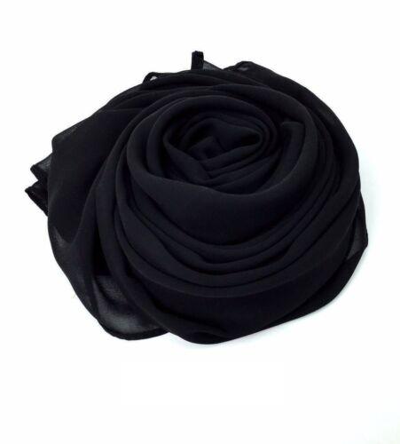 Chiffon Hijab Scarf Elegant Soft High Quality Sarong Shawl Wrap Plain Maxi