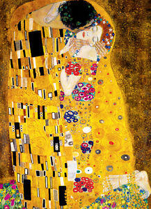 The Kiss by Gustav Klimt 1000 Piece Puzzle Jigsaw Puzzle - 26.5 x 19