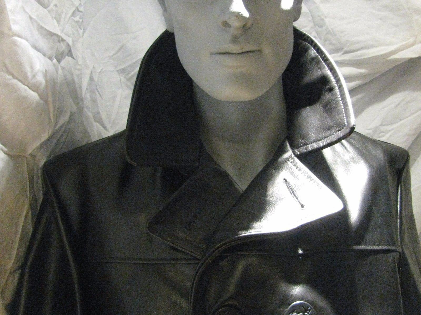 Schott BROS Made in USA Pelle Naked heavy cowhide Pea Coat heavy Naked size 46   140 NEWT a2cde7