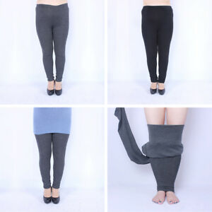d76a794eb1881 Women Winter Thick Warm Fleece Lined Thermal Stretchy Leggings Pants ...
