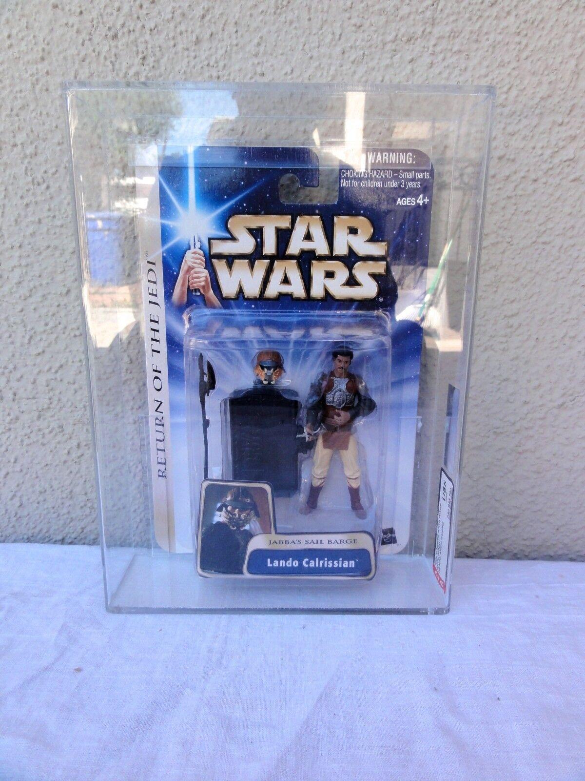 Star Wars 2004 Star Wars ROTJ Gold Lando Skiff Guard AFA Sealed MIB BOX