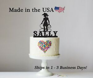 Image Is Loading Little Cowgirl Cake Topper Girl Birthday Rodeo Western