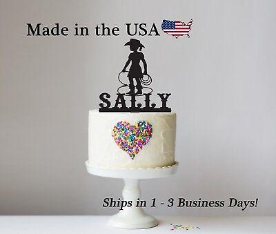 Astounding Little Cowgirl Cake Topper Girl Birthday Rodeo Western Cake Personalised Birthday Cards Sponlily Jamesorg