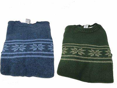 Christmas Baby GAP Bear Crewneck Sweater Holiday Long Sleeve Cable Knit