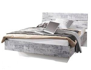 Bett 90x200 Cm Jugendbett Kinderzimmer Schlafzimmer Vintage Optik Grau Weiss Neu Ebay