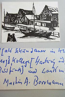 FleißIg Ak Charlotte Heister: Elbing, Speicherinsel; Autograph Martin Borrmann 1972 Eine GroßE Auswahl An Farben Und Designs