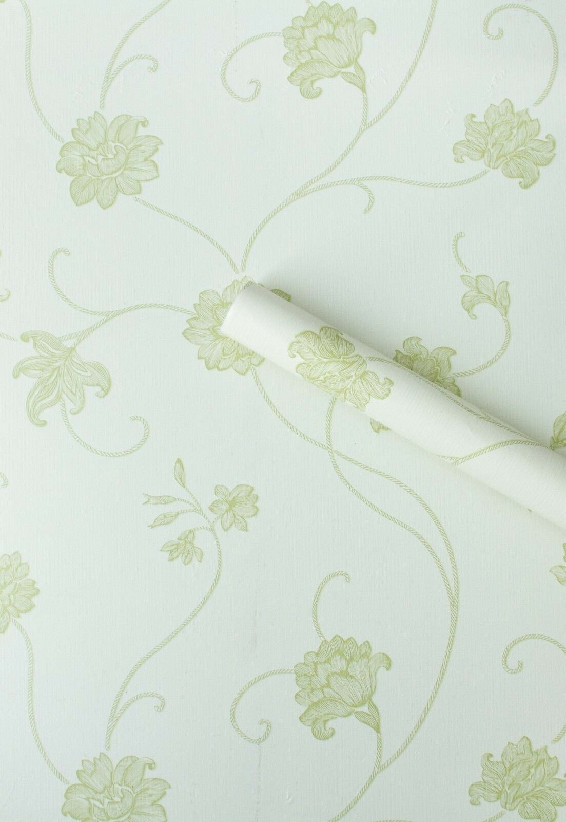 Mint Green Floral Sticky Back Vinyl Film Pvc Wallpaper Plastic