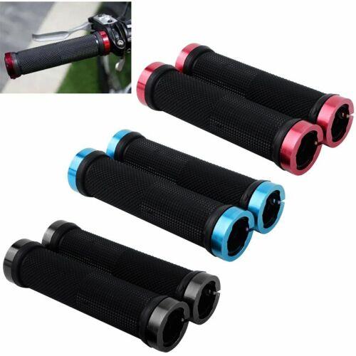 2x Lenkergriffe Fahrradgriffe Fahrrad Gummi Griffe Schraubgriffe Alu MTB Bike