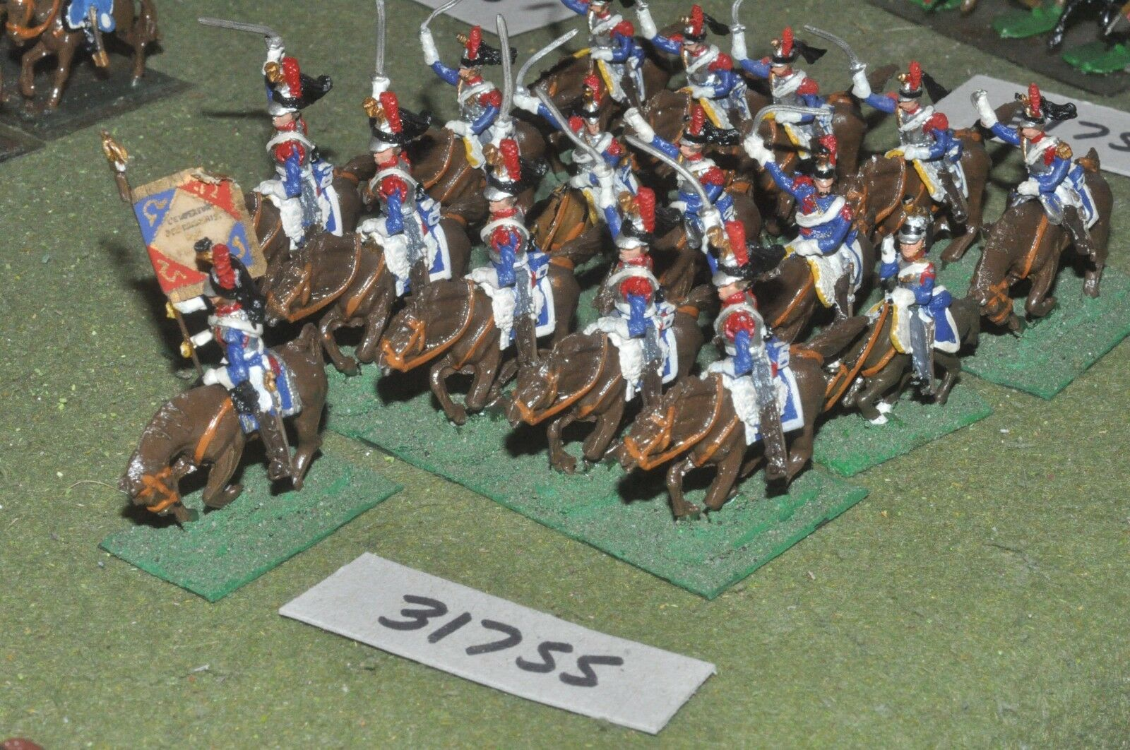 25mm napoleonic   french - cuirassiers 16 figures - cav (31755)