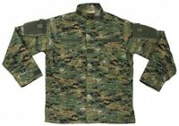 New Mens US Army Style ACU FIELD RIPSTOP Jacket DIGITAL WOODLAND CAMO