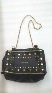 GIVENCHY-Studded-Calfskin-Small-Pandora-Leather-Messenger-Bag