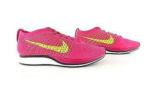 Clothing, Shoes & Accessories Enthusiastic Nike Flyknit Racer Fireberry Volt Pink Flash New Us_7/7.5/8 Eur_38/38.5/39