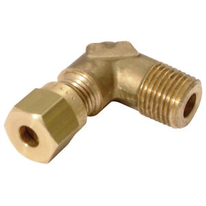 Nickel Plated Brass Compression Fitting Male Stud Elbow BSPT