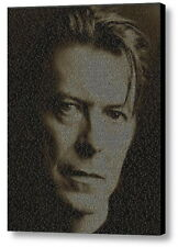 David Bowie Song List Incredible Mosaic Framed Print Limited Edition w/COA