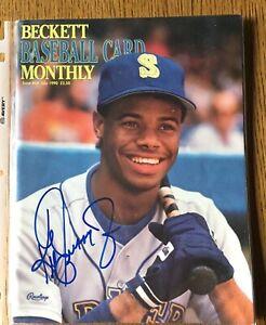 BECKETT-BASEBALL-CARD-MONTHLY-MAGAZINE-KEN-GRIFFEY-JR-JULY-1990-ISSUE-Signed