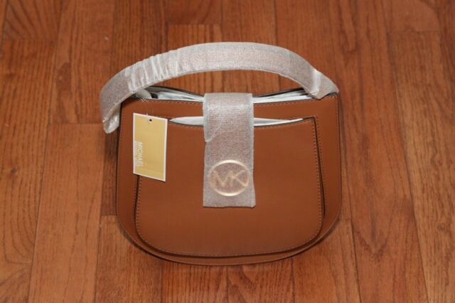 5108ef6b73a2 NWT Michael Kors  348 Lillie Hobo Messenger Crossbody Handbag Acorn Gold