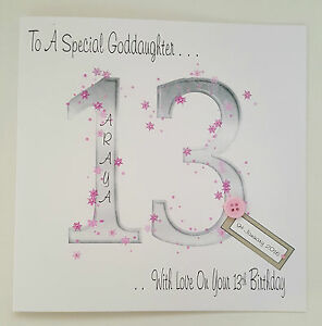 Large personalised 13th birthday goddaughter daughter card any age image is loading large personalised 13th birthday goddaughter daughter card any bookmarktalkfo Gallery