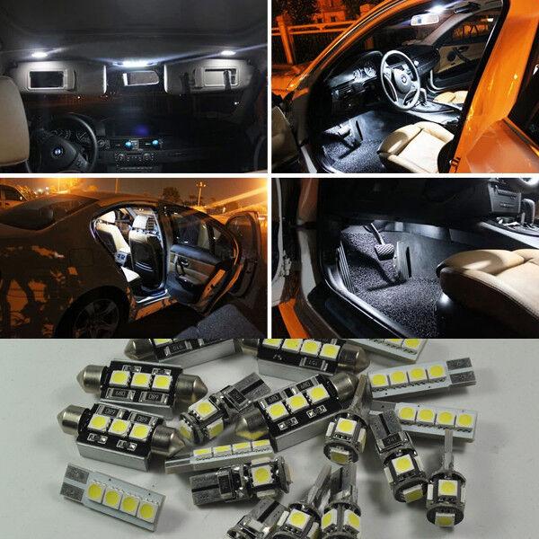 16×White Error Free SMD Interior LED Light Kit for VW Touareg 2004-2010