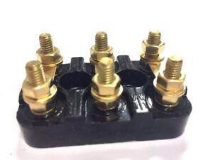 Motor terminal block 5mm diameter 6 pin 56x36 mm ebay for Electric motor terminal blocks