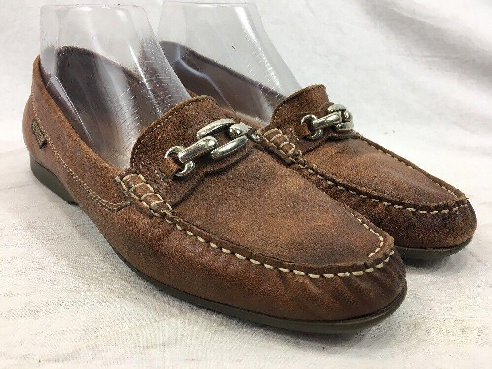 Mephisto Zapatos para mujer Talla 9 Marrón Cuero Mocasín Mocasín Mocasín fresco aire resbalón en Portugal hecho  precio al por mayor